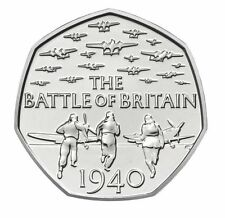 2015 50P COIN BATTLE OF BRITAIN 5TH PORTRAIT RARE FIFTY PENCE UNCIRCULATED (a)