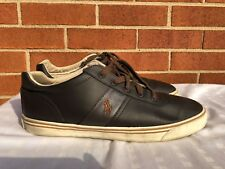 Polo Ralph Lauren Hanford Brown Leather Sneakers Men Lace Up Shoes SZ 13 D