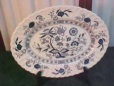 J & G Meakin Classic Blue Nordic English Ironstone Decorative Oval Platter