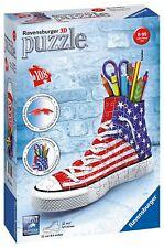 Ravensburger 3D Puzzle - American Flag Sneakers - 108 3D Pieces - 12549