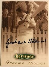 1995 FUTERA HERITAGE CRICKET COLLECTION CARD N0 52/60 SIGNED GRAEME THOMAS