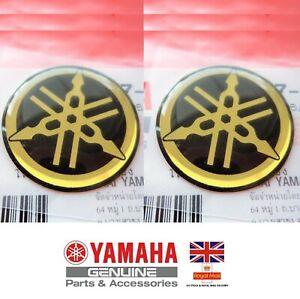 YAMAHA GENUINE R1 R6 R7 XJR YZF TANK EMBLEM BADGE GEL DECAL STICKER 40MM GOLD
