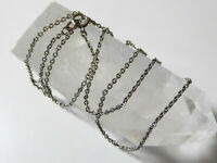 Antique Art Deco 14ct White Gold Matinée Length Chain – 22 Inches