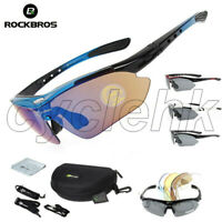 ROCKBROS Polarized Cycling Glasses Sports Glasses Sunglasses Goggles 5Lens