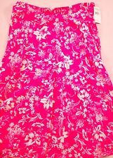 womens AMERICAN LIVING hot pink & white long skirt size Large cotton brand new