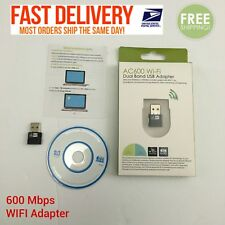 USB Dual Band Wifi Dongle 600Mbps 2.4GHz 802.11AC Wireless Network Adapter #01