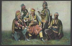 Baschi Bouzouks Ottoman Army Soldiers vintage colour postcard