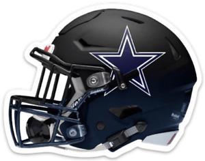 Dallas Cowboys Black Helmet w/ Blue Star Logo MAGNET - NFL Die-cut MAGNET