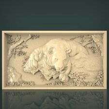 (1048) STL Model Tiger for CNC Router 3D Printer Artcam Aspire Bas Relief