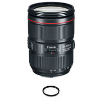 Canon EF 24-105mm f/4L IS II USM Lens + 77mm Multicoated UV Filter