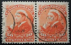 Canada #46 Used Pair, VF-XF, May 11, '00 Dated, Halifax CDS, Showpiece Quality