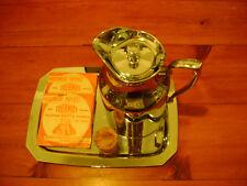 Vintage 1960's THERMOS Chrome Coffee Insulated Carafe-Tray Set ... 'RARE'