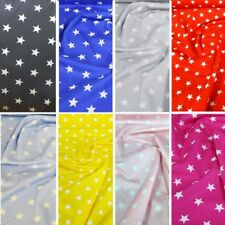 100% Poplin Cotton Fabric Rose & Hubble 20mm Stars Star Material