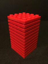 Lego New Lot Of 12 Plate 4x4 Red Base Plate 4 X 4 Roof Floor Building Brick