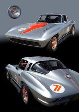 1965 Chevrolet Chevy Corvette Stingray Vintage GT Race Car Photo (CA-0002)