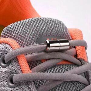 Shoe lace Elastic Locking Shoelaces Semicircle Sneakers Quick No Tie Kids Adult