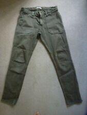 Ba&sh Ladies CSALLY Jeans In Khaki Green Size 26 (UK 8)