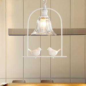 Resin Bird Chandelier Fixture Bar Cafe Pendant Lighting Ceiling Lamp Restaurant