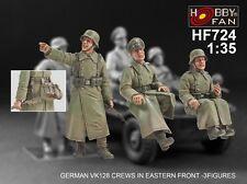Hobby Fan 1/35 Scale German VK128 Crews in Eastern Front 3 Resin Figures HF-724