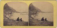 Suisse Fluellen Lac Lucerna Foto Stereo Vintage Albumina Ca 1865
