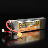 14.8V 4000mAh ZOP Power  4S 60C XT60 Plug Lipo Battery For RC Helicopter Toy ❤