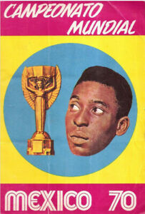 REEDCION FACSIMIL STICKER ALBUM CROMOS MUNDIAL MEXICO 1970 SADIRA FIFA WORLD CUP