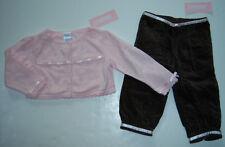 NWT Gymboree Holiday Teddy Bears Pointelle Sweater Velveteen Ribbon Pants 12-18