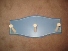 New Pottery Barn Kids Blue Towel Rack Wall Pegs