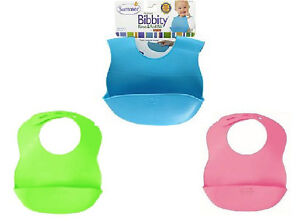 Summer Infant Bibbity Rinse & Roll Waterproof Baby Bib with pouch