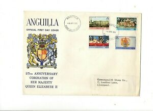 1978 ANGUILLA - CORONATION 25th ANNIVERSARY FDC FROM COLLECTION V26