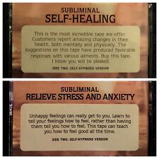 Self Healing Relieve Stress Anxiety Potentials Unlimited Subliminal New Age LOT