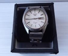 Vintage rare Seiko 5 automatic men wristwatch bevelled crystal 80's