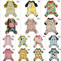 Fitwarm Comfy Dog Clothes Shirt Pet Pajamas Cute Jumpsuit Cat Clothes Coat Small