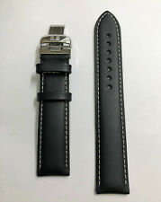 Original Tissot PRS-200 T067417A Black Leather 19mm Watch Band Strap with Buckle