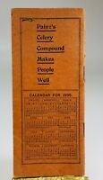 1898 Paine's Celery Compound Remedy Cash Book 1898 Calendar On Back P208