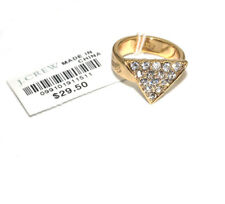 J.Crew Vintage Triangle Ring Size 6 Gold Tone