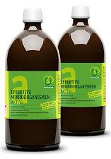 EM-A, effektive Mikroorganismen, 2 x 1 Liter Flasche EM-Aktiv, Garten, Teich