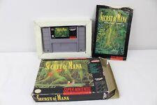 Secret of Mana SNES Super Nintendo 1993 Square Soft Near Game Box and Manual