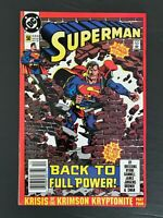 SUPERMAN 2ND SERIES #50 DC COMICS 1990 VF/NM NEWSSTAND