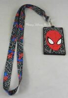 New Marvel Spider-Man Doodle Silicone ID Lanyard Neckstrap With Rubber Holder