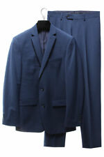 BAR III $600 NEW 2915 Wool Blend Slim Fit Mens 2PC Suit 44L 38W 32L