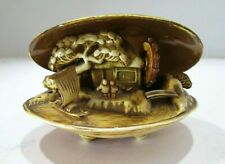 Asian J.P.N Conch Sea Shell Look Decorative Carved Art Sea Shell