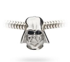 NEW~STAR WARS 3D Stainless Steel BEAD DARTH VADER CHARM Pandora Chamilia~$25