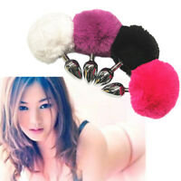 MultiColor-Funny-Butt-Toy-Plug-Anal-Insert-Stainless-Steel-Fox-Fur-Tail-Stopper