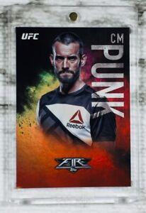 "2017 Topps UFC Fire (#054/142) CM PUNK ""RED HOT"" SP FOIL PARALLEL CARD! AEW!!"