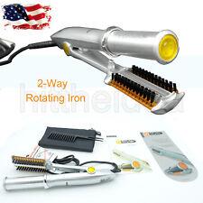 Max Wet To Dry 2-Way Rotating Iron - Silver/Orange - Brand New!