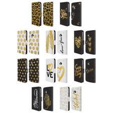 Fundas y carcasas Head Case Designs color principal oro de piel para teléfonos móviles y PDAs