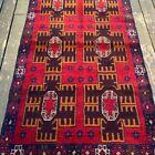 Handmade Afghan Bahor Accent Rug 4x6 Camel Hair Natural Dyes Tribal & Nomadic