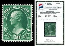 Scott O66 1873 30c State Department Official Mint F-VF OG Cat $500 with PSE CERT