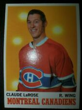 Claude LaRose Montreal Canadiens Topps 1970-71 NHL Hockey Card #56 NMM